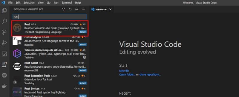 Visual Studio Codeプラグインインストール