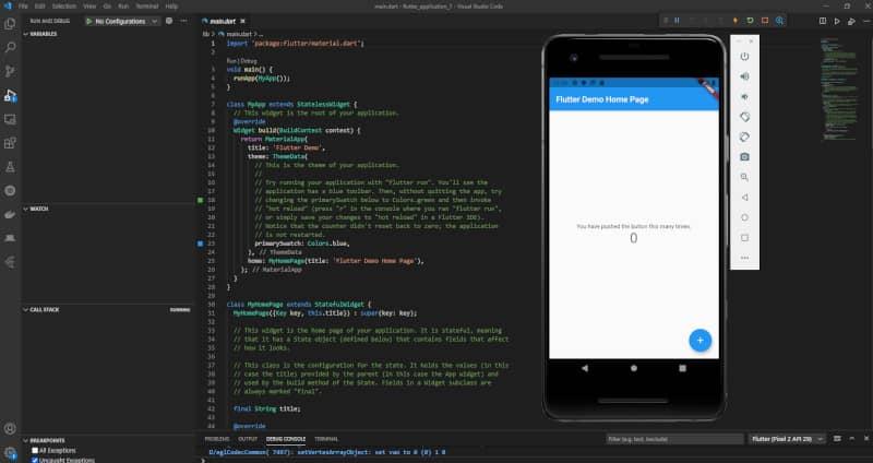 Androidエミュレーター実行